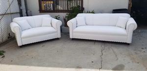 NEW WHITE LEATHER COUCHES for Sale in LA CANADA FLT, CA