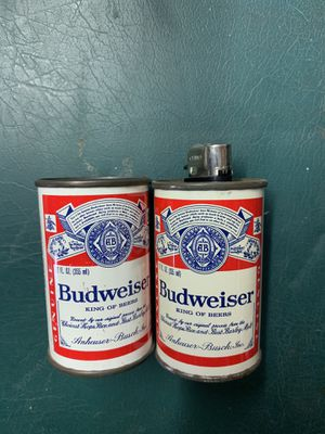 2 Vintage Budweiser Beer Can Lighter Holders with working lighter for Sale in Westminster, MD