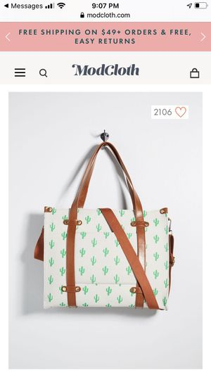 Camp Director Zipped Tote by ModCloth - Brand New in Original packaging for Sale in Glendale, CA