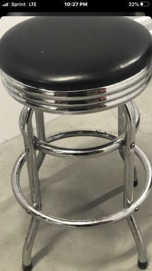 BLACK AND SILVER BAR STOOL ON HOLD UNTIL MONDAY for Sale in Milwaukee, WI