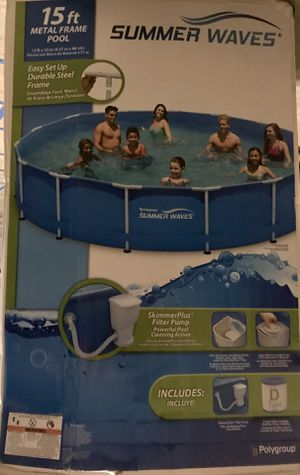 Pool frame and pump for Sale in Round Rock, TX