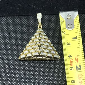 Diamond Pyramid medallion , Pendant ,charms,iced out piece bustin' piece, charm , medallion for Sale in Los Angeles, CA
