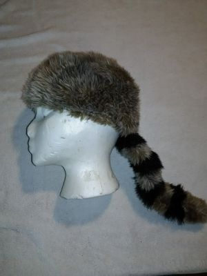 Used, Vintage Disney Parks Youth Raccoon Tail Daniel Boone Davy Crockett Cap Hat 2000 for Sale for sale  San Bernardino, CA