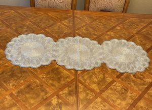 Silver Christmas Poinsettia Table Runner for Sale in Los Angeles, CA