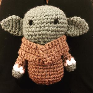 "Baby alien - The child - Handmade Crochet 8"" for Sale in West Hills, CA"