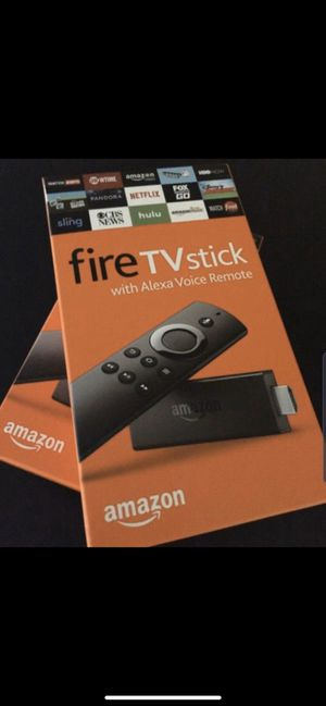 All New HDR Unlocked Amazon Fire TV Stick with Voice+Volume Remote for Sale in Houston, TX