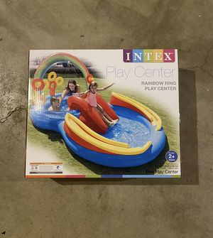 "INTEX Rainbow Ring Play Center 117"" x 76"" x 53"" Waterslide and Sprayer for Sale in Evesham Township, NJ"