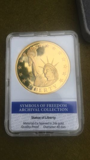 Symbols of freedom archival collection Statue of Liberty gold coin proof for Sale in Bristol, PA