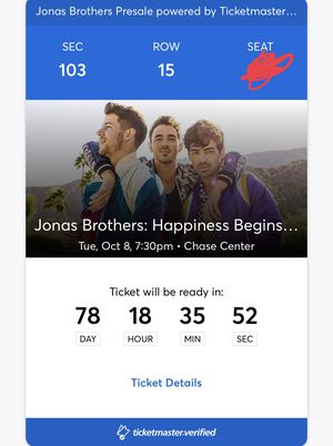 Jonas brothers ticket for Sale in San Jose, CA