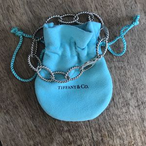 Authentic Sterling Silver Tiffany & Co. charm bracelet with pouch for Sale in Santa Monica, CA