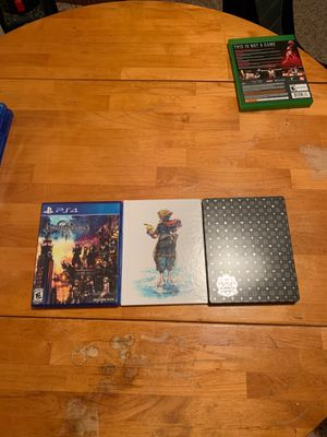 Kingdom Hearts 3 Deluxe Edition (Steelbook+Artbook) PS4 for Sale in Allen, TX