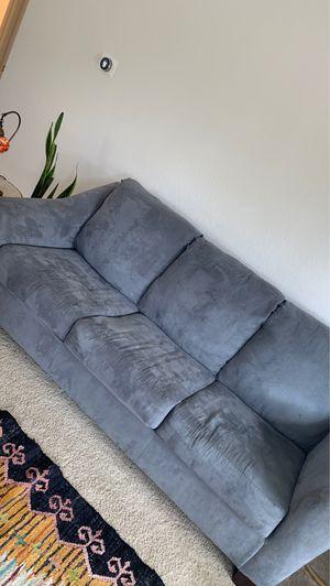 Pretty Blue Grey Sofa for Sale in Newport Beach, CA