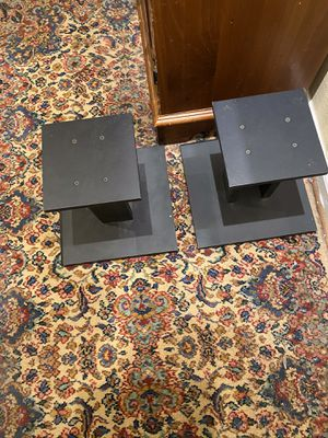 Set of Two Black 12 Inch Speaker Stands for Sale in Suffolk, VA