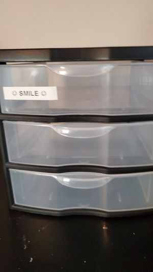 Small, clear plastic drawers for Sale in Bremerton, WA