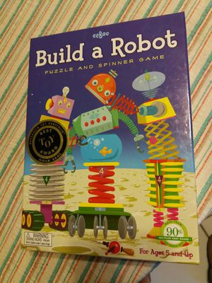 EeBoo Build a Robot Puzzle & Spinner Game for Sale in Chandler, AZ