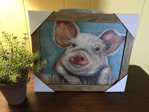 Farmhouse pig picture for Sale in Lancaster, CA
