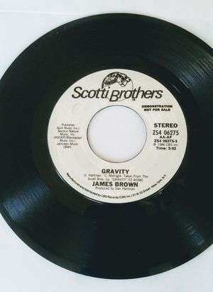 James Brown 1986 GRAVITY DJ 45rpm Record for Sale in Arvada, CO