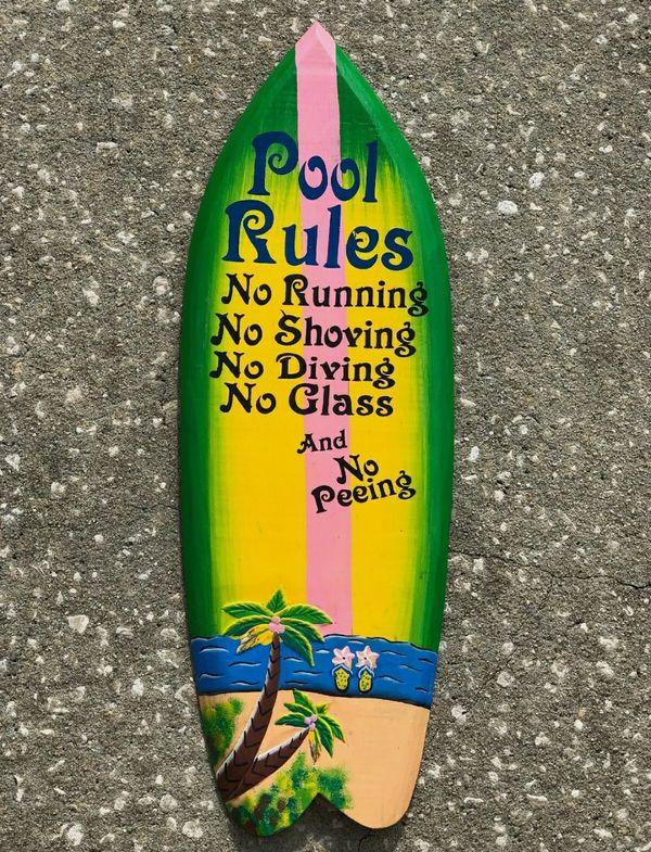 Pool Rules Surfboard