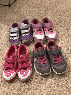 Toddler girls size 9 shoes - StrideRite light up shoes, Hello Kitty Keds, and Nikes for Sale in Edmonds, WA