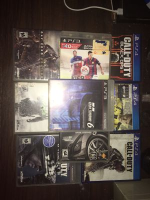3 ps4 games and 6 ps3 games. for Sale in Fort Worth, TX