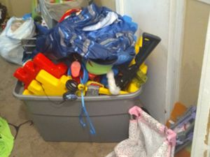 2 huge bins of miscellaneous toys boys and girl for Sale in Lower Burrell, PA