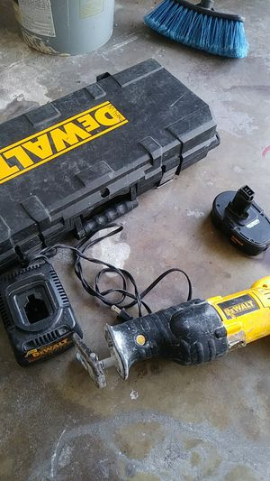 Dewalt saw battery charger and case including for Sale in Spring Hill, FL