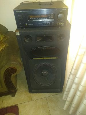 Onkyo radio and 15 inch speakers for Sale in The Bronx, NY
