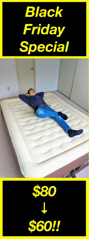 【Black Friday Sale】Amazon $99.99 / Brand new Air Mattress / Air Bed / Queen Size / Air Pump is included / good for camping, guest bed, etc for Sale in Torrance, CA