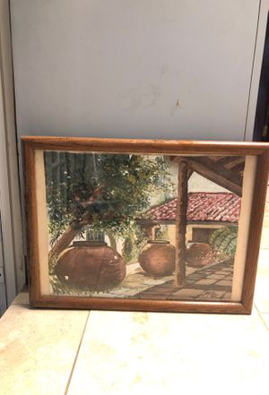 Original oil painting Camaguey patio art for Sale in Miami, FL
