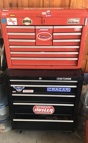CRAFTSMAN TOOL BOXES WITH ALL TOOLS INSIDE DRAWERS INCLUDED for Sale in Cypress, CA