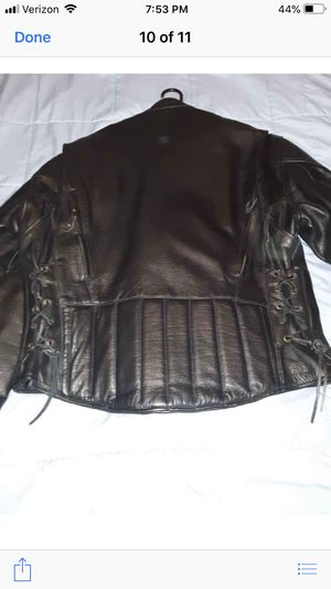Men's Leather motorcycle jacket for Sale in Avon, OH