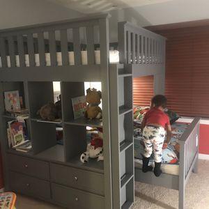 Potty barn Full Loft Bed With Dresser And Desk for Sale in Arlington, VA