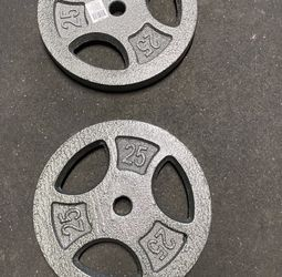 """2 X 25lb Weight Plates New 1"""" for Sale in Hillsboro,  OR"""