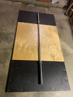 American Barbell Deadlift platform setup, Olympic bar for Sale in Torrance, CA