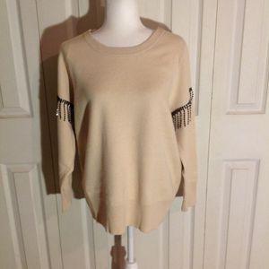 Alfani Fringe Embellished Sleeve Sweater. NWT. Size XL for Sale in Chittenango, NY