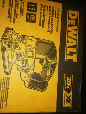 DEWALT XR JIG SAW NEW IN THE BOX NEVER BEEN OUT OF THE BOX. for Sale in Portland, OR