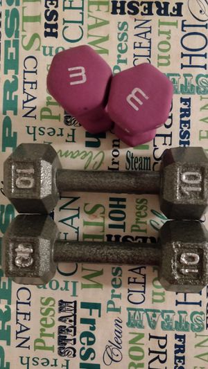 2 pair of dumbbells for Sale in Coppell, TX