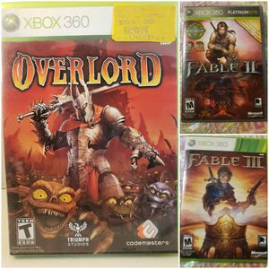 Xbox 360 Fable Overlord Bundle for Sale in Long Beach, CA