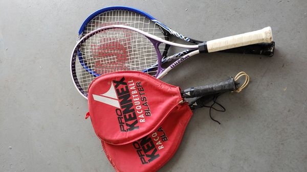 Tennis rackets and racket ball