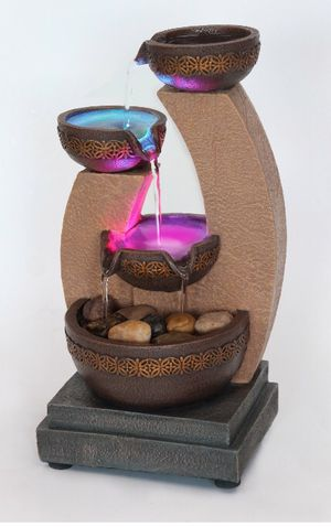 New tabletop office water cascading fountain for Sale in Omaha, NE
