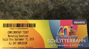 Schlitterbahn ticket for Sale in Sinton, TX