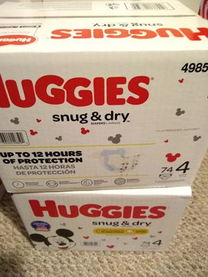 Two Huggies boxes size 4 diapers for Sale in Union Beach, NJ