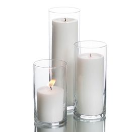 3 Glass Candle Pillars for Sale in San Diego,  CA