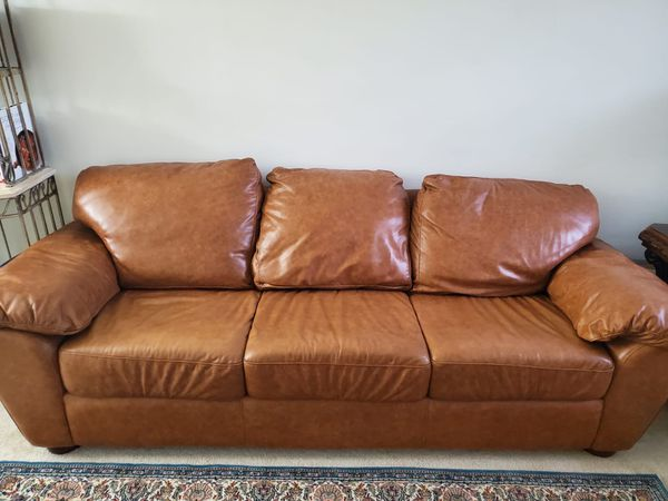 Real leather couch and recliner