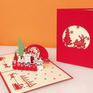 Pop-Up Holiday Cards, Red, Green, and Blue, Includes Envelope for Sale in Herndon, VA