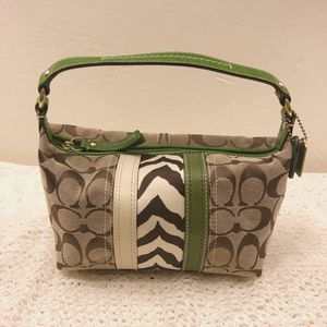 Coach Green & Zebra Monogram Purse for Sale in Pittsburgh, PA