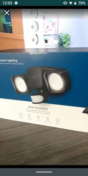 Smart Lighting White Motion Activated Solar Outdoor Integrated LED Flood Light Best price! No LINES!, NO TAX!, NO COVID-19!! for Sale in Whittier, CA