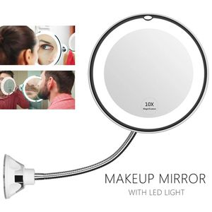 360 Degree Rotation 10X Magnifying Makeup Mirror My Flexible Mirror Folding Vanity Mirror with LED Light Makeup Tools Dropship for Sale in DeSoto, TX