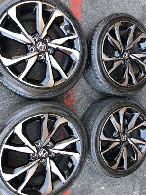 Rims tires 18x8 5x114.3 fit Honda Civic touring sport si accord for Sale in Santa Ana, CA
