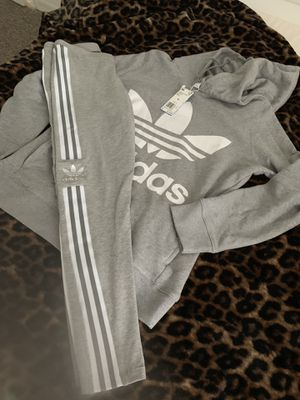 Females Brand new Adidas hoodie with matching tights for Sale in Orlando, FL